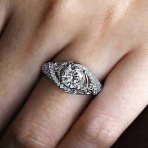 925 Silver Simulated Diamonds Passion Ring